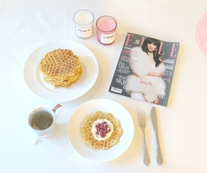 breakfast, Elle, and fashion image