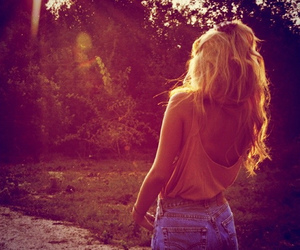 girl, summer, and blonde image