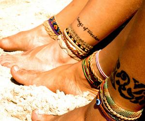summer, beach, and tattoo image