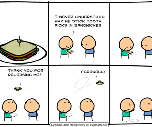 sandwich, funny, and lol image