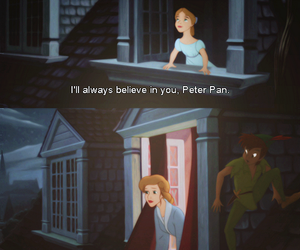 peter pan, wendy, and disnay image