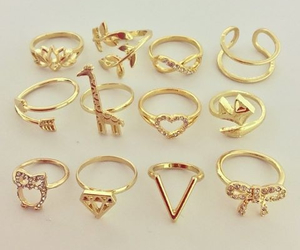 fashion, pretty, and rings image