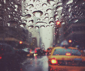 rain, taxi, and city image