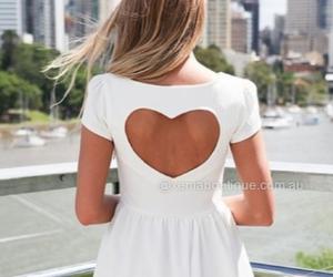 dress, heart, and fashion image