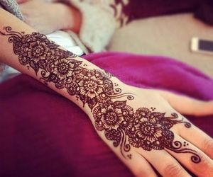 henna, lovely, and style image