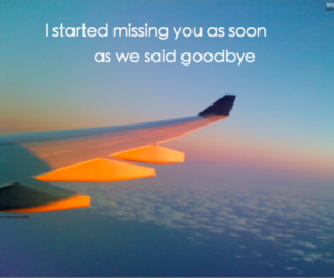 distance, goodbye, and quote image