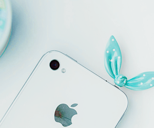 iphone, apple, and bow image