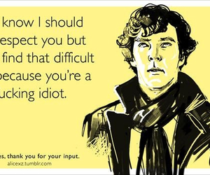 sherlock, idiot, and funny image