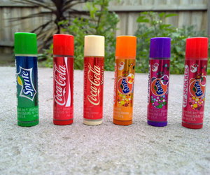 coca cola, colourful, and lip balm image