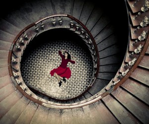 girl and stairs image