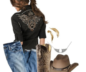 country, Cowgirl, and outfit image