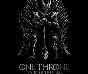 game of thrones, sauron, and lord of the rings image
