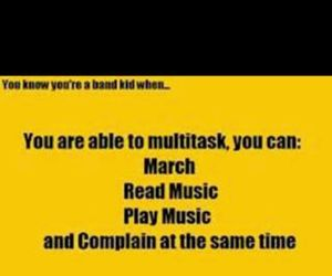 lol, marching band, and band geek image
