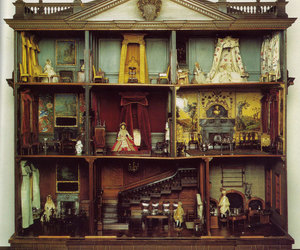 dollhouse, vintage, and doll house image