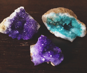 crystal, stone, and blue image