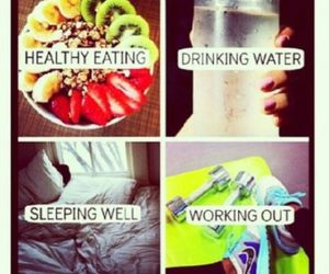 fitness, fit, and fruit image