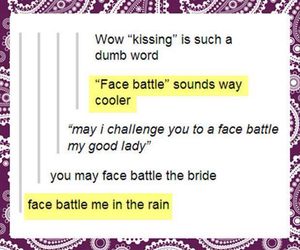 face battle, kissing, and funny image