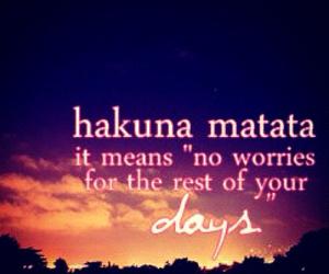 hakuna matata, disney, and quote image