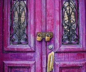 door, purple, and lock image
