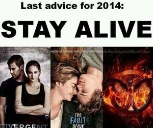 divergent, mockingjay, and the fault in our stars image