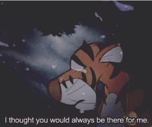 sad, quote, and tiger image