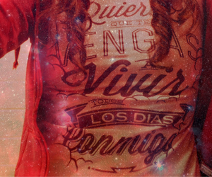 red lettering love him image