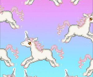 unicorn, pink, and blue image