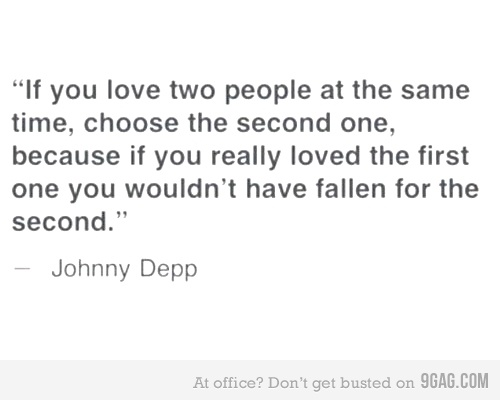 9GAG - If you love two people at the same time...