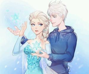 elsa, frozen, and jack frost image