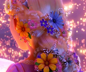 flowers, rapunzel, and disney image