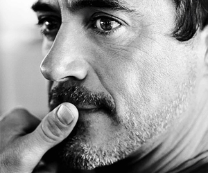 actor, black and white, and robert downey jr image