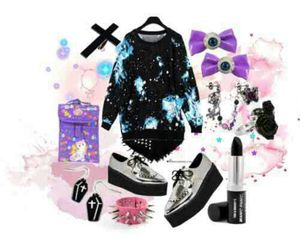 pastel goth style clothes image