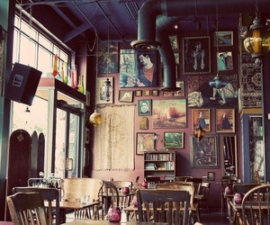 art, hippie, and coffee image