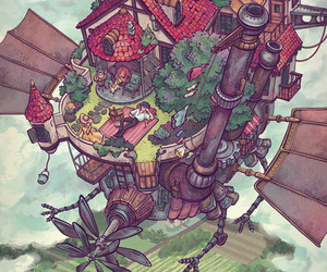 anime, fanart, and howls moving castle image