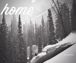 black and white, home, and mountains image