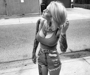 bad girl, tattoed girl, and tattoo image