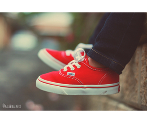 baby, red, and vans image
