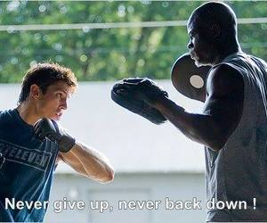 never back down, movie, and never give up image