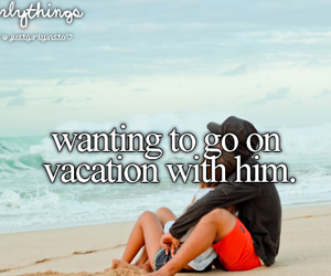 girls, him, and vacation image