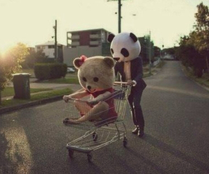 love, bear, and panda image