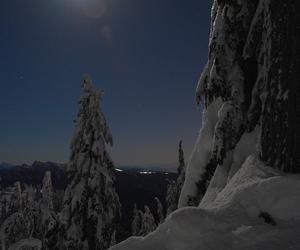 bokeh, glitter, and mountain image