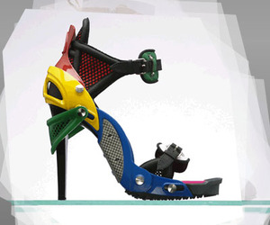 colorful, creative, and heels image