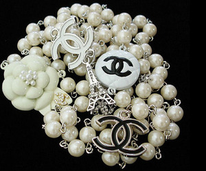 chanel, pearls, and necklace image