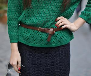 belt, nail polish, and girl image