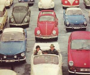 car, vintage, and beetle image