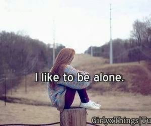 alone, girl, and hurt image