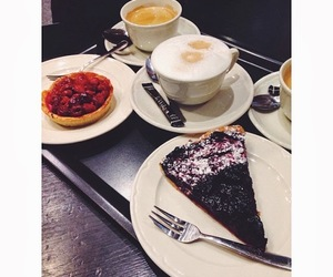 cake, delicious, and coffee image