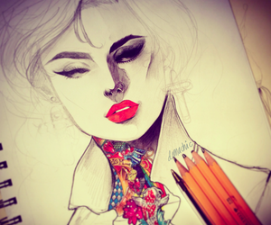 draw, red, and drawing image