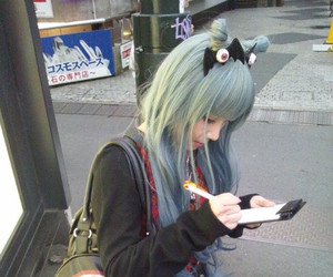girl, pastel goth, and hair image