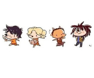 cool, tyson, and percy jackson image